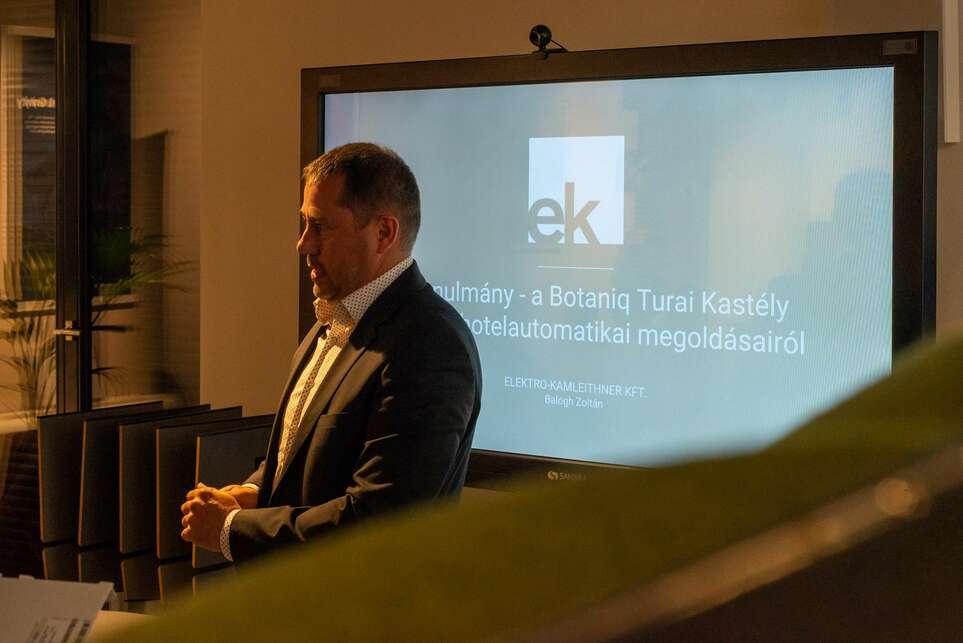 Az Elektro-Kamleithner Kft. és az Europa Design szervezésében tartottak workshopot és kerekasztalbeszélgetést az intelligens hotel jövőjéről, Fotó: Europa Design