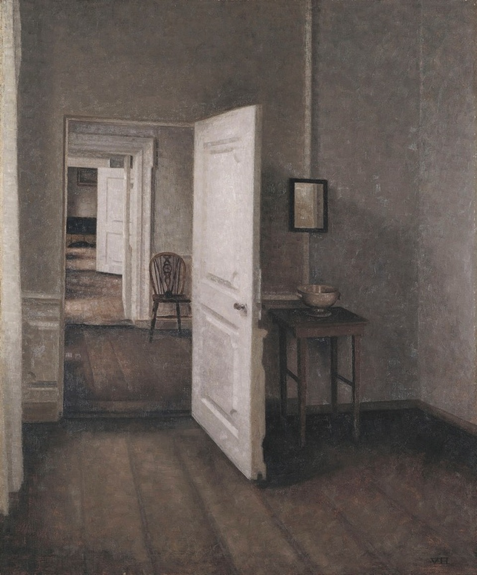 Vilhelm Hammershoi dán festő The Four Rooms című alkotása