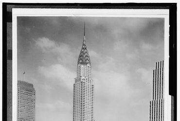 A Chrysler Building 1930 körül. A Detroit Publishing Co. fényképe, forrás: Library of Congress