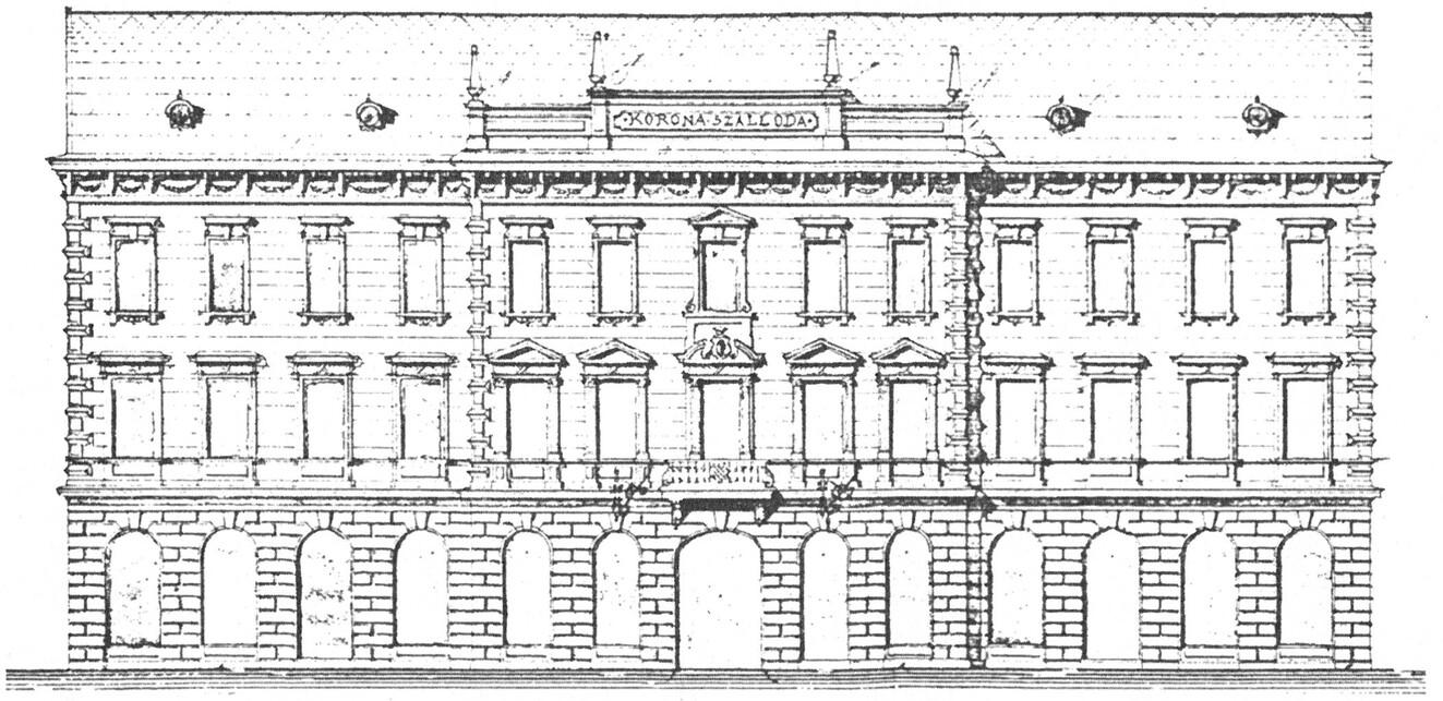 Adler Károly homlokzati rajza, 1896, forrás: Wikipedia