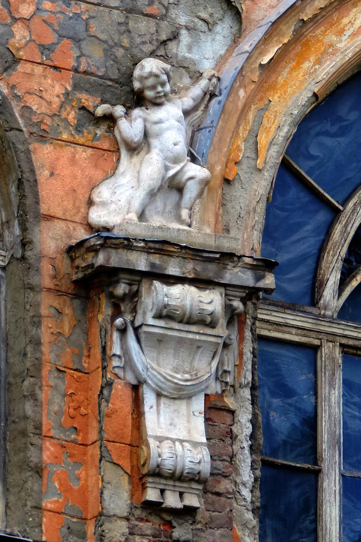 A belső udvari homlokzat. Fotó: Balogh Attila