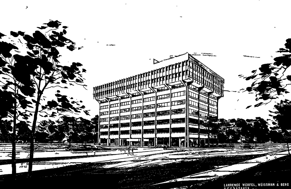 Irodaház, Queens, New York, 1963–1964, Laurence Werfel & Associates Architects – Mertl Gábor