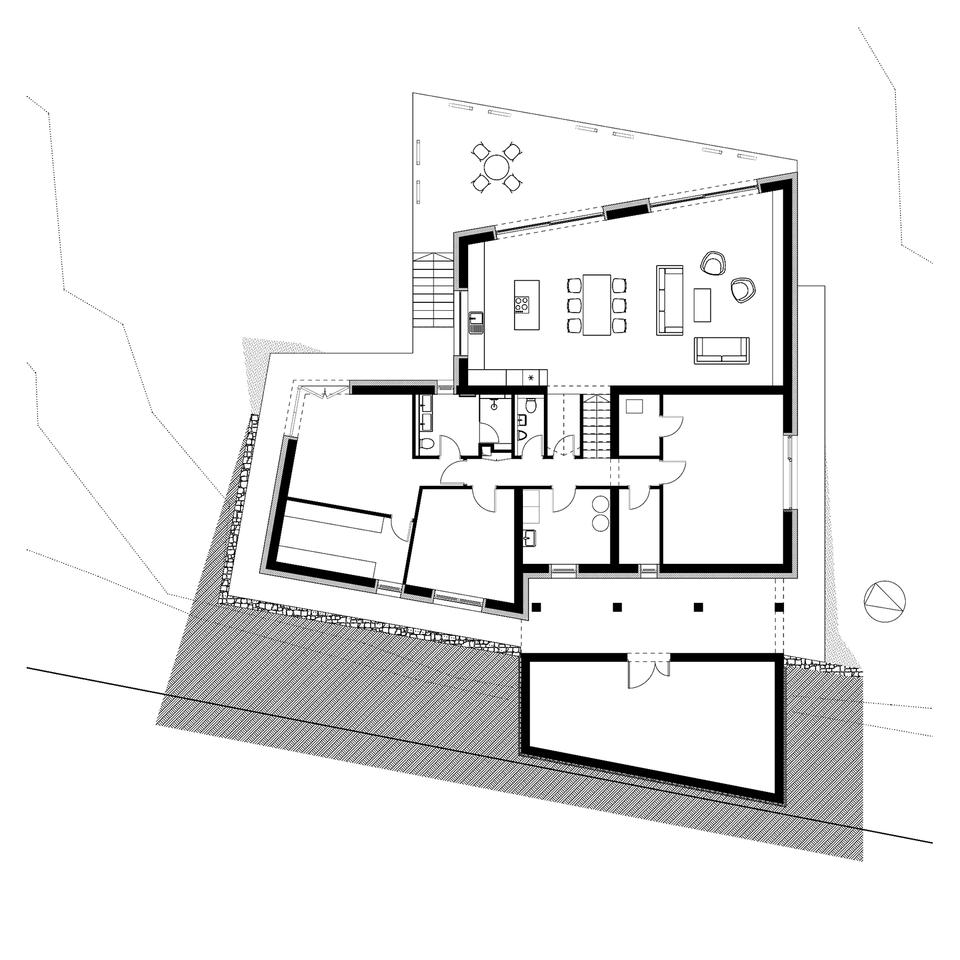 Földszint, Családi ház Csömörön, Tervező: Jahoda Róbert, ARCHITACTION/ÉPÍTÉSZET, 2019-2020.