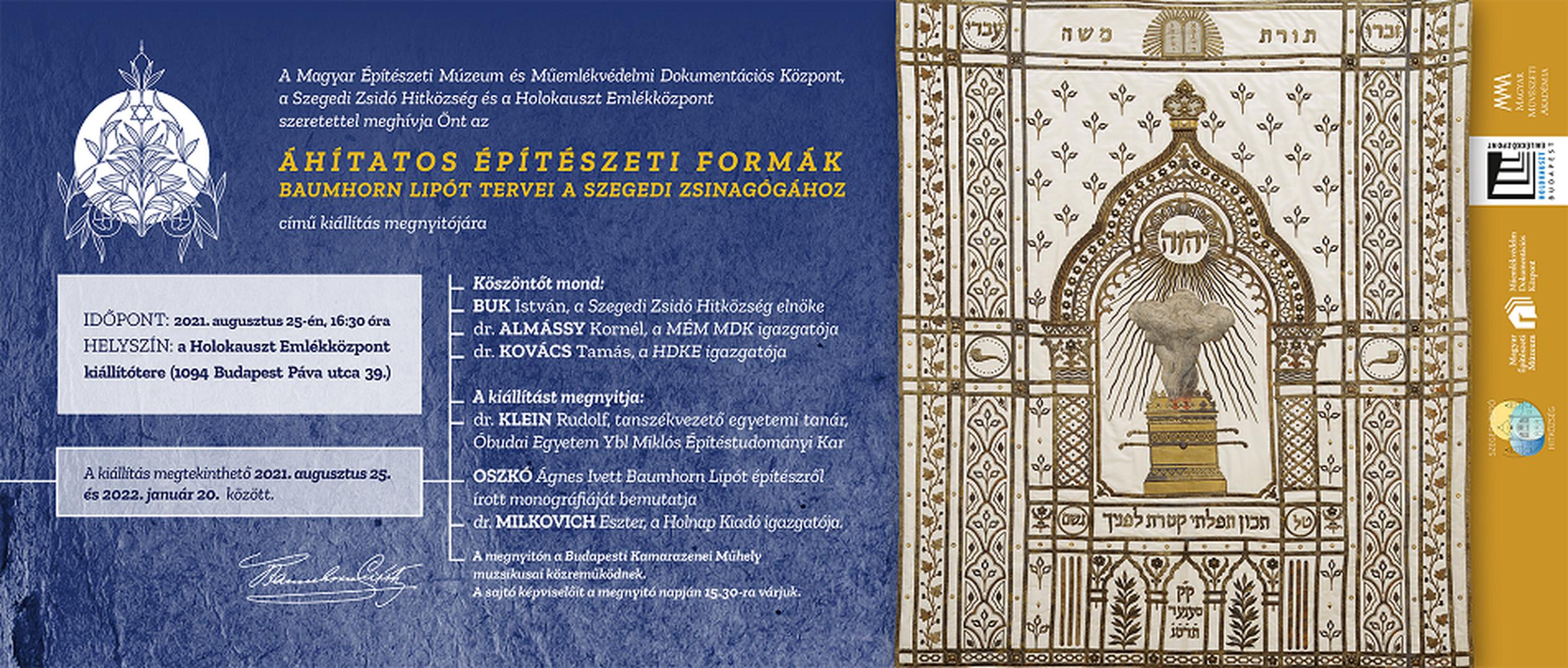 Áhítatos építészeti formák – Baumhorn Lipót tervei a szegedi zsinagógához